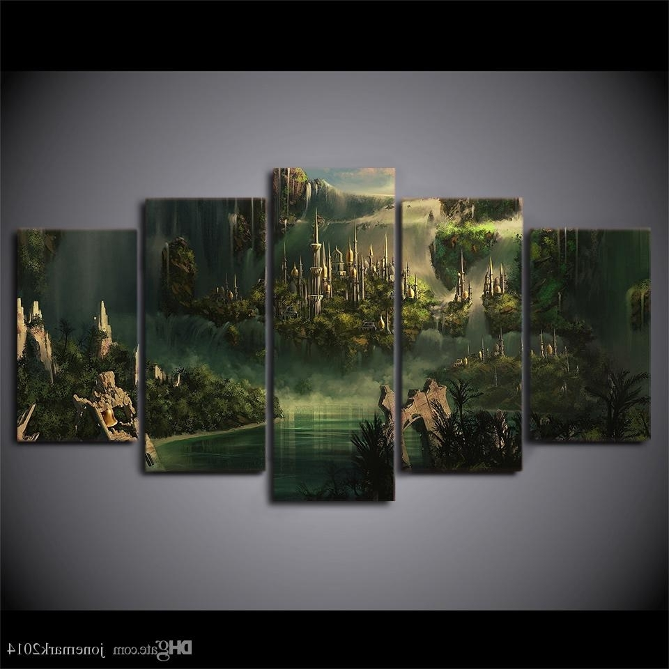 Lord Of The Rings Wall Art Inside Trendy Hd Printed Canvas Art Lord Of The Rings Painting Mysterious Ancient (View 5 of 20)
