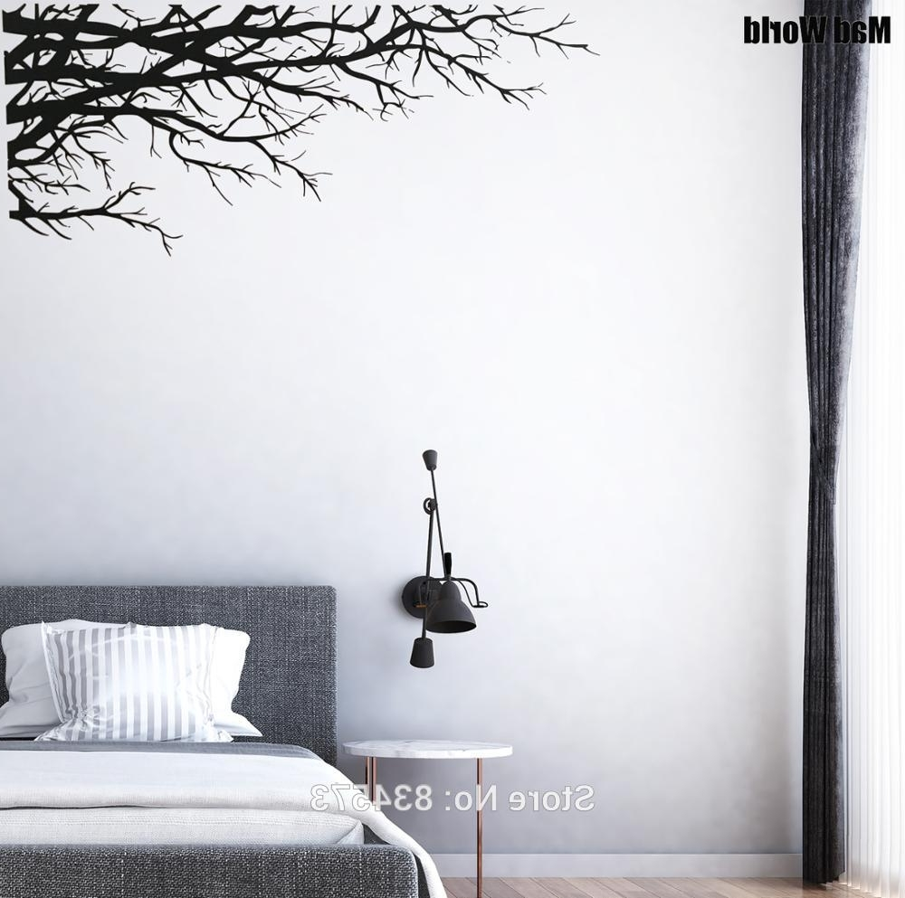 Mad World Tree Branch Elegant Nature Forest Corner Wall Art Sticker For Preferred Corner Wall Art (View 13 of 20)