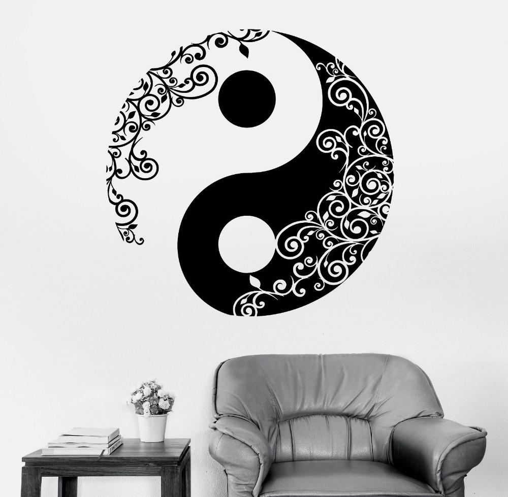 Mandala Wall Art With Regard To Most Up To Date Mandala Wall Sticker Home Decal Buddha Yin Yang Floral Yoga (View 12 of 20)