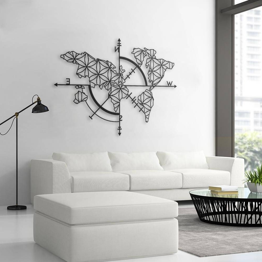 Map Of Life Metal World Map Metal Wall Decor Metal Wall Art Design Pertaining To Favorite Map Of The World Wall Art (View 7 of 20)