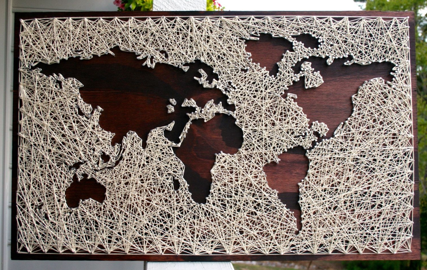 Map Wood Sign (Gallery 5 of 20)