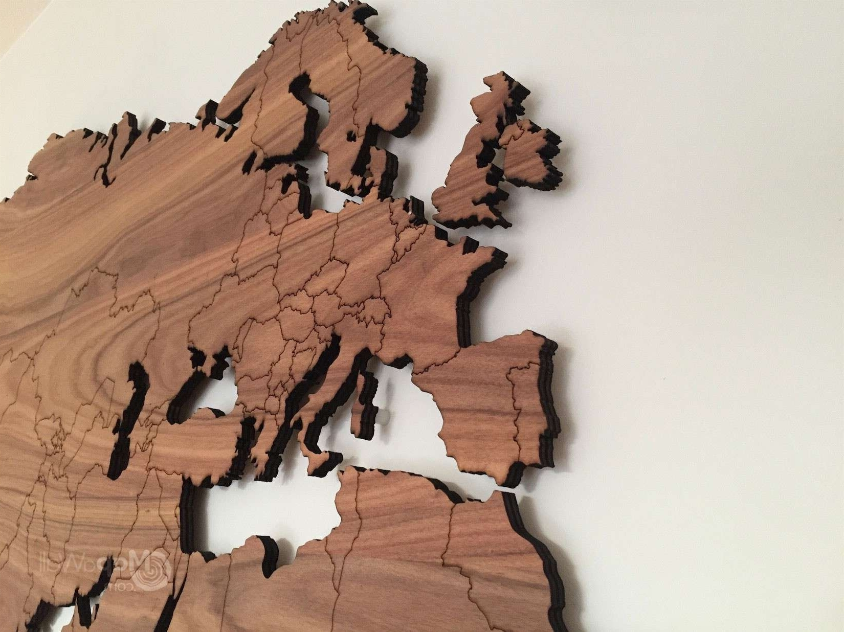 Maps Wall Art Within 2017 Wooden World Map Wall Art Bberry Me And (Gallery 19 of 20)