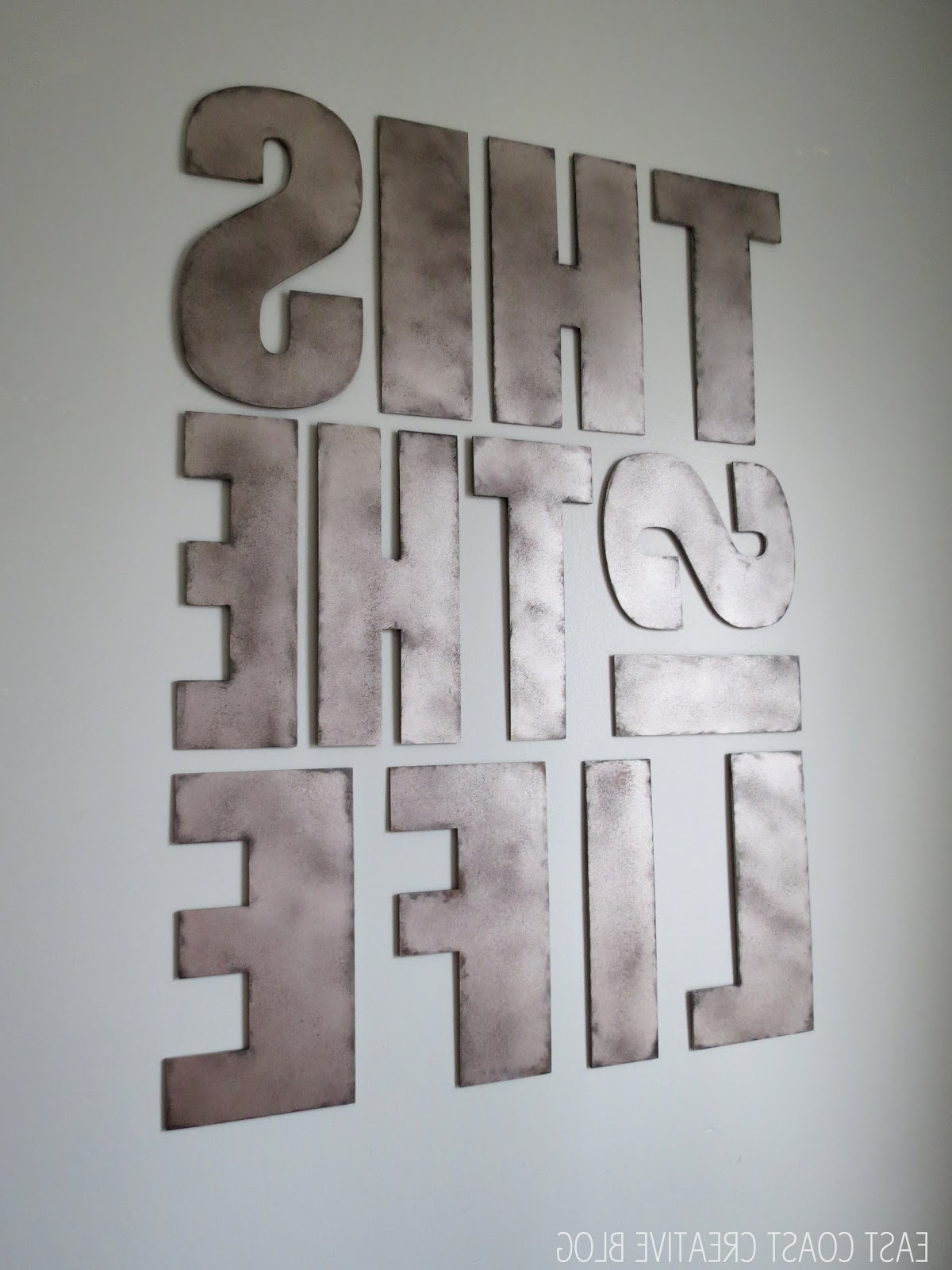 Metal Letter Wall Art – Elitflat Intended For Well Liked Metal Letter Wall Art (Gallery 13 of 20)