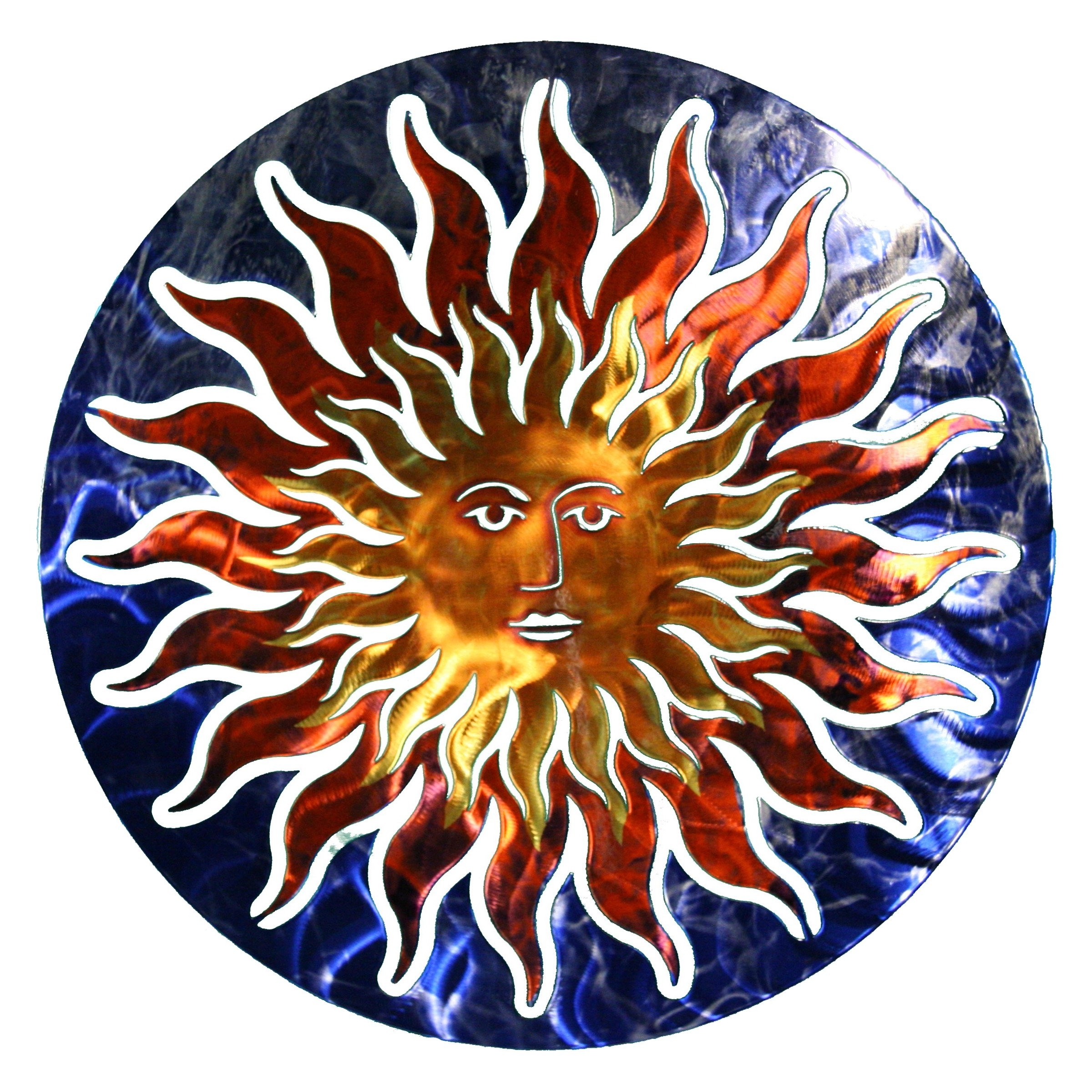 Metal Outdoor Wall Art In Widely Used 3d Sun Face Metal Outdoor Wall Art (View 14 of 20)