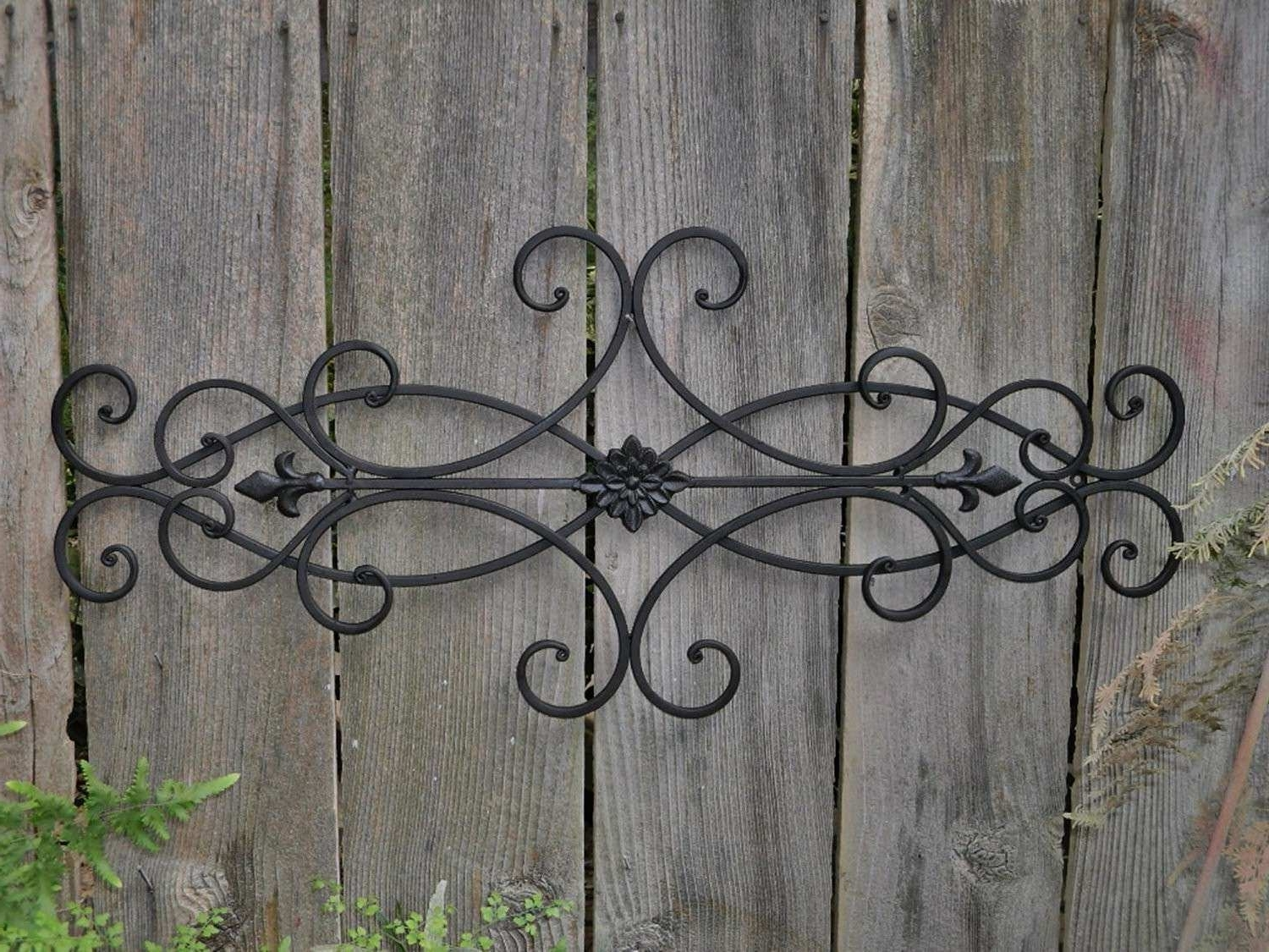 Metal Outdoor Wall Decor Elegant Good Outdoor Wall Art Wrought Iron Pertaining To Latest Metal Outdoor Wall Art (View 20 of 20)