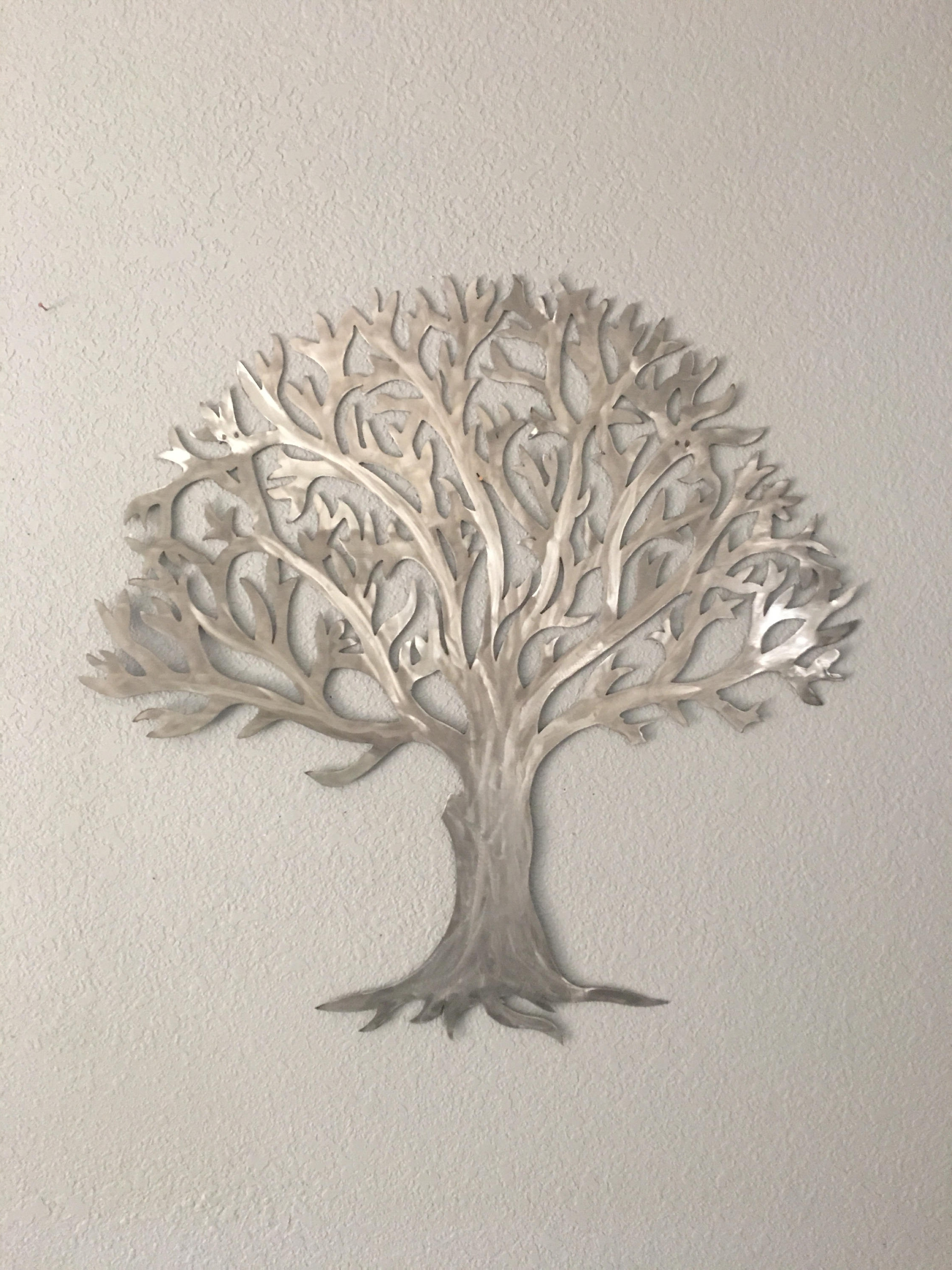 Metal Tree Wall Art Regarding Current Metal Tree Stainless Steel Tree Wall Art Wall Decor (View 13 of 15)