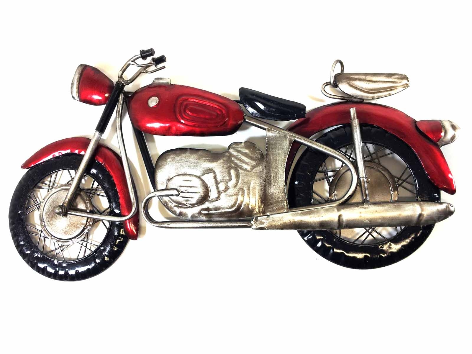 Metal Wall Art – Red Motorcycle Regarding Trendy Motorcycle Wall Art (View 7 of 20)