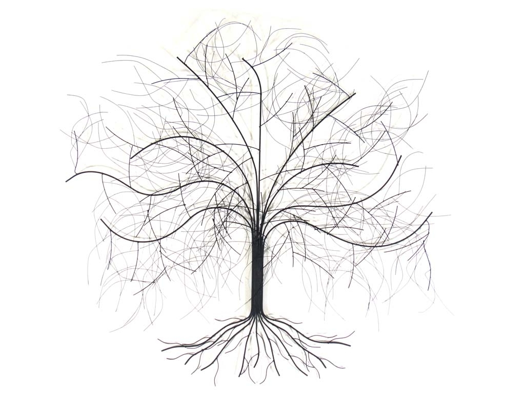 Metal Wall Art Trees In Current Metal Wall Art – Large Oak Tree (View 8 of 20)