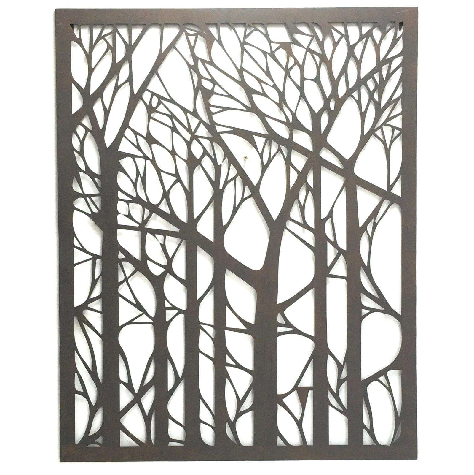 Metal Wall Art Trees Regarding Most Recent Extraordinary Outside Metal Wall Art Large Tree Elegant 20 Top Decor (Gallery 18 of 20)