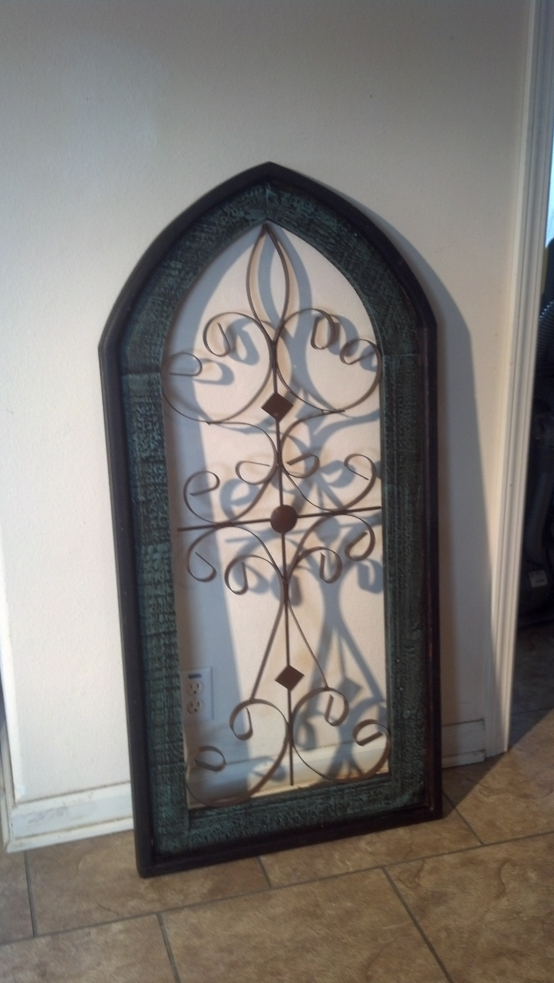 Metal Wood Wall Decor Cathedral Window Stunning Wall Wood And Metal With Regard To Latest Wood And Metal Wall Art (View 7 of 20)