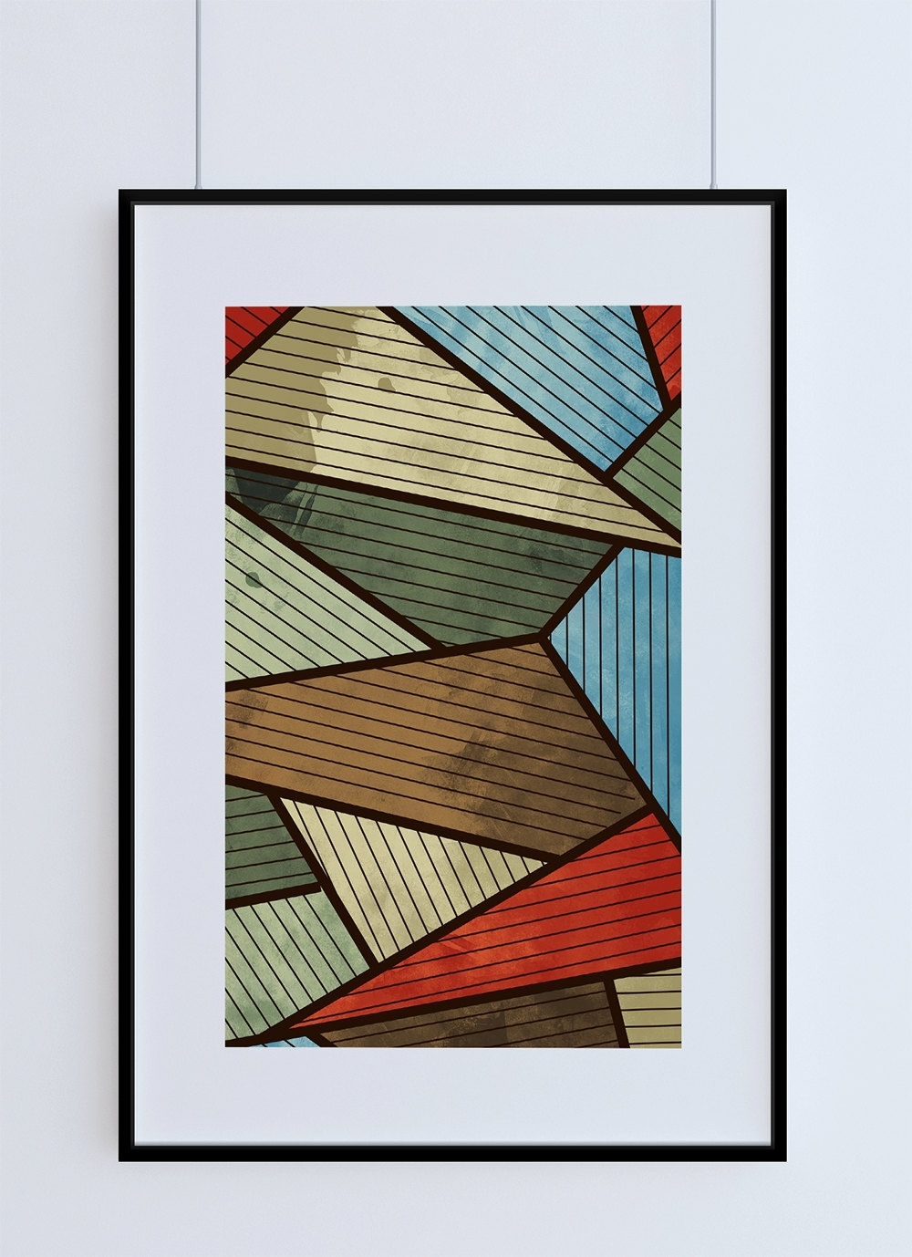 Mid Century Modern Print Abstract Art Print Poster Giclee On Cotton With Most Current Mid Century Modern Wall Art (View 7 of 20)