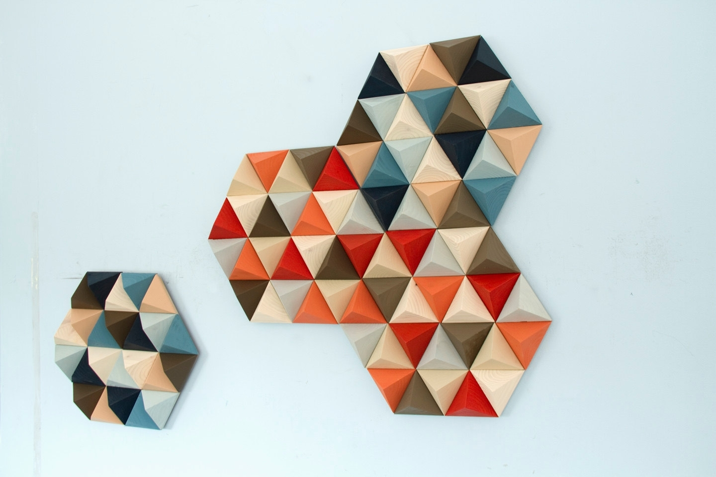 Mid Century Wall Art Pertaining To Widely Used Wood Wall Art, Geometric, Hexagons, Set Of 4, Mid Century Wall Art (View 20 of 20)