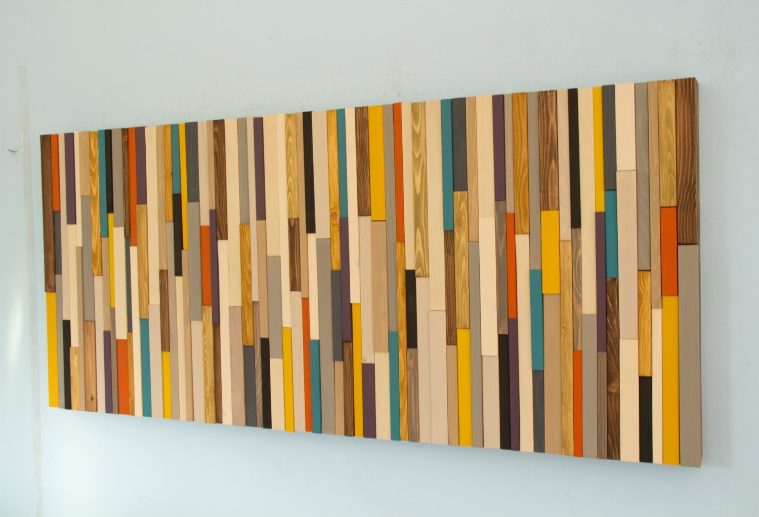 Mid Century Wall Art Within Popular Mid Century Wall Art, Reclaimed Wood Art Sculpture, Painted Wood (View 10 of 20)