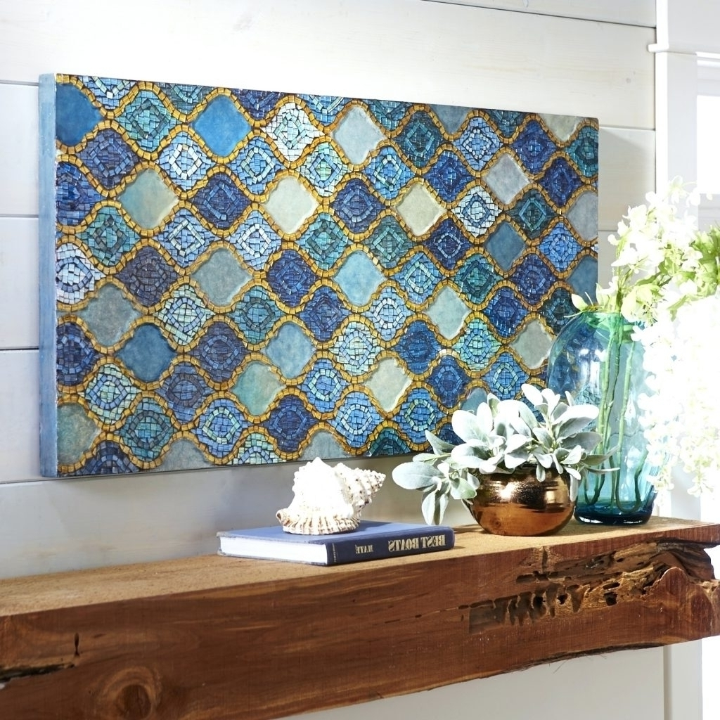 Mirror Mosaic Wall Art For Recent Wall Arts Glass Wall Hangings Wall Art Mosaic Mirror Wall Decor (View 11 of 20)