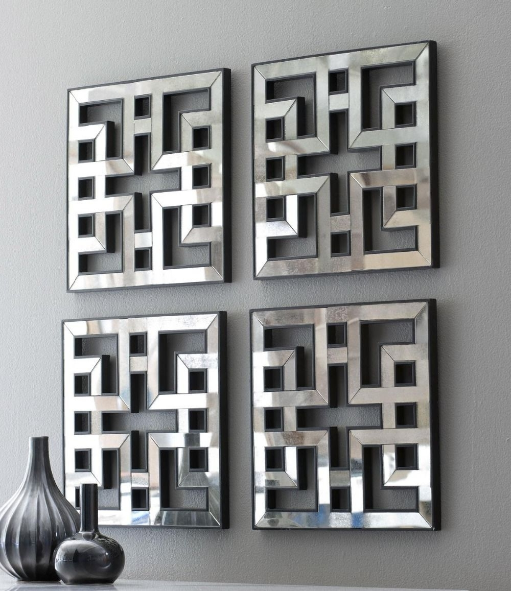 Mirrored Wall Decor Fretwork Square Mirror Framed Wall Art D F1308 Regarding Trendy Mirrored Wall Art (View 9 of 20)