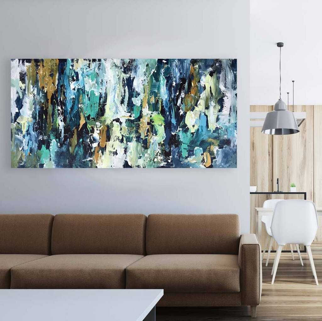 Modern Abstract Painting Wall Art Inside Favorite Original Abstract Painting On Canvas Wall Artomar Obaid Abstract (Gallery 20 of 20)