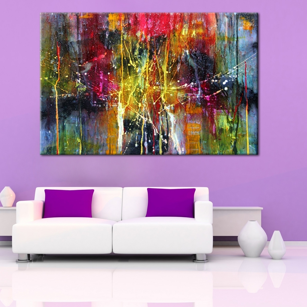 Modern Abstract Painting Wall Art Within Trendy Modern Abstract Art Handmade Oil Painting On Canvas For Wall (View 10 of 20)