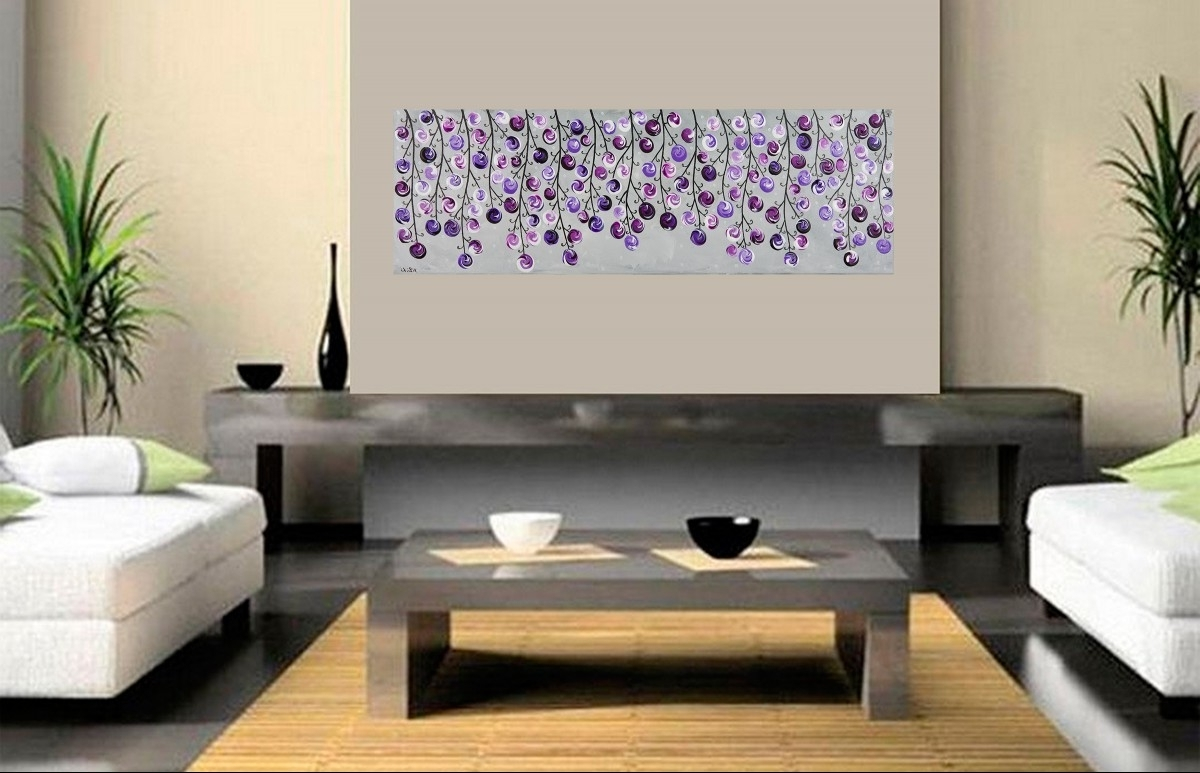 Modern Canvas Wall Art Lavender : Andrews Living Arts – Modern Pertaining To Latest Purple And Grey Wall Art (View 11 of 20)