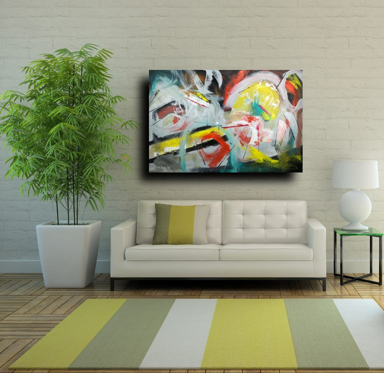 Modern Large Canvas Wall Art Regarding Most Up To Date Large Wall Art Modern On Canvas 120X (View 11 of 20)