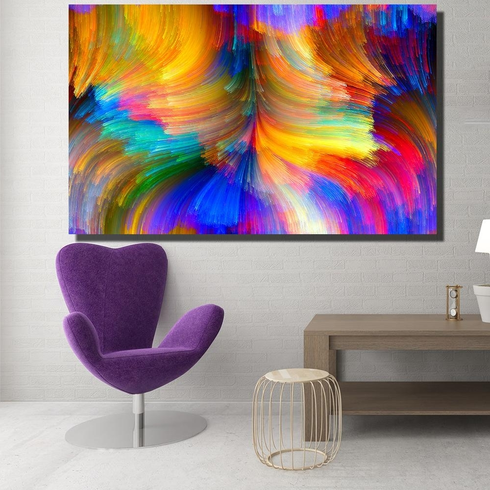 Modern Painting Canvas Wall Art With Well Known 2018 Modern Canvas Prints Oil Painting Abstract Abstract Bright (View 14 of 20)