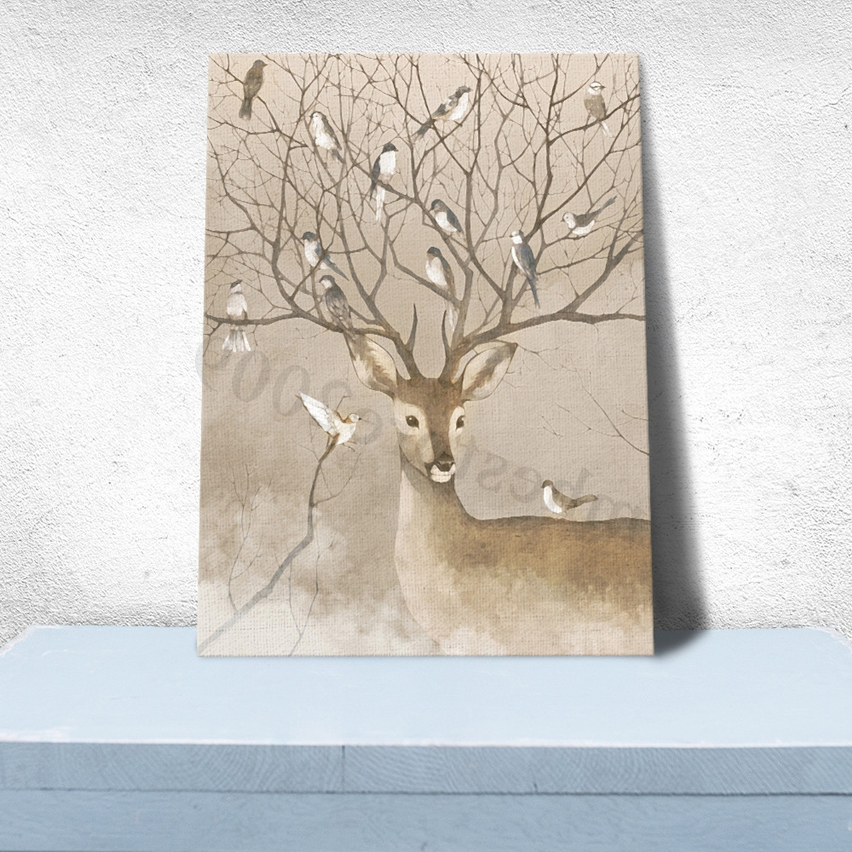 Modern Unframed Canvas Print Deer Home Decor Living Bedroom Mural Intended For 2017 Home Decor Wall Art (View 18 of 20)