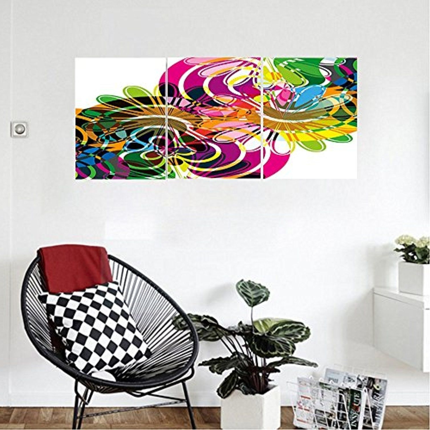 Modern Wall Art Decors Inside Preferred Liguo88 Custom Canvas Modern Decor Rainbow Colorful Abstract Decor (View 11 of 20)