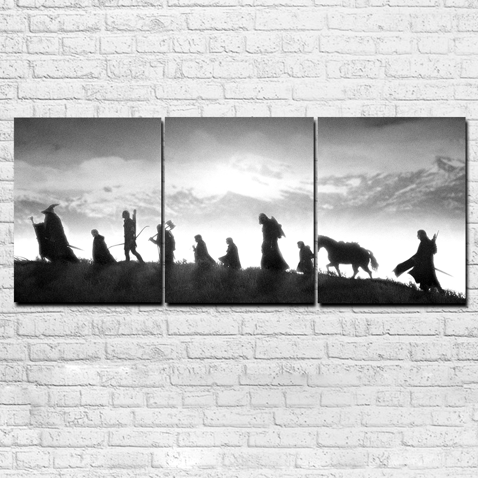 Modular Canvas Pictures Wall Art Living Room Decor Hd Prints 3 Inside Preferred Lord Of The Rings Wall Art (View 13 of 20)