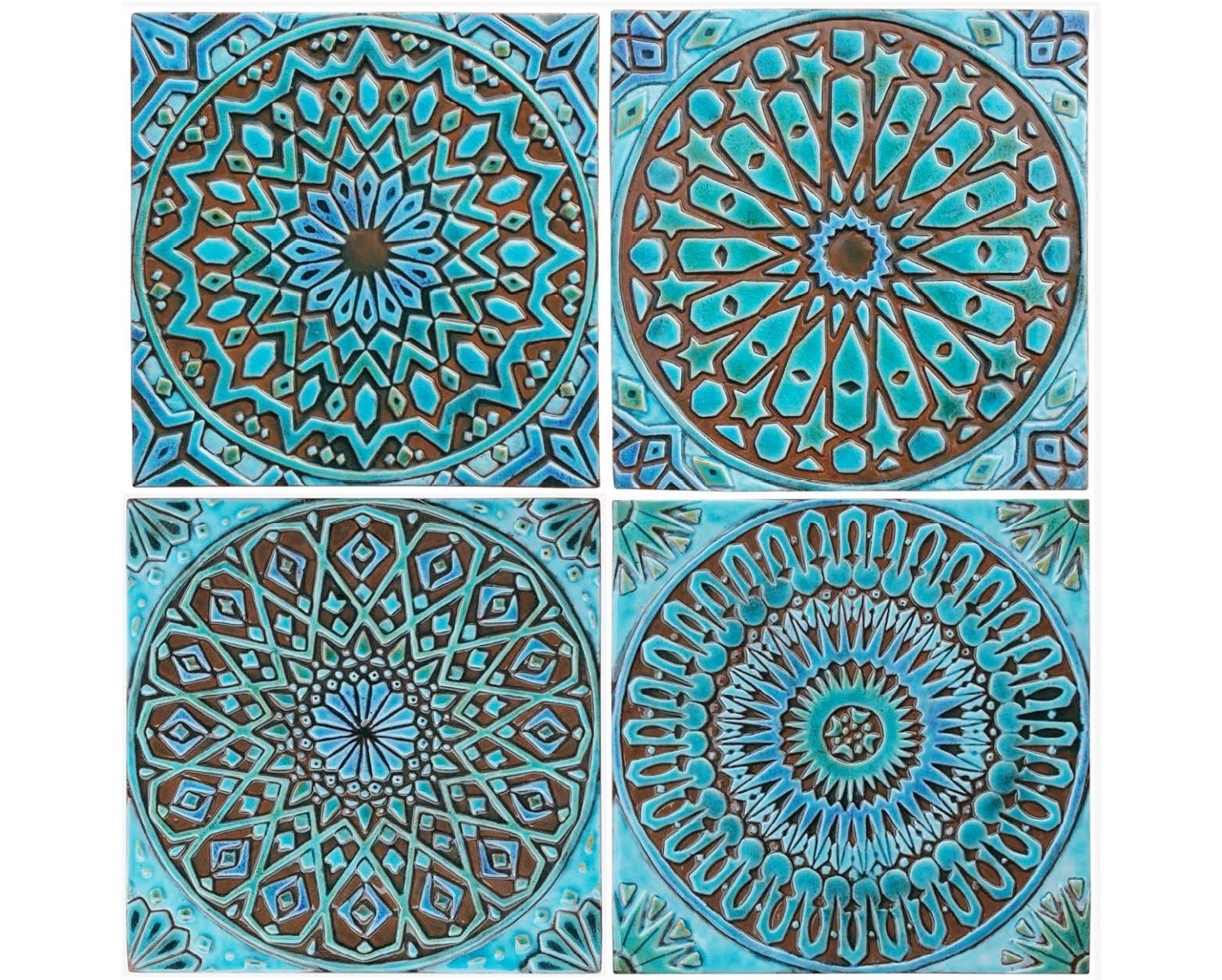Moroccan Wall Art Intended For Recent Moroccan Decor, Set Of 4 Moroccan Tiles, Moroccan Wall Art, Outdoor (View 14 of 20)