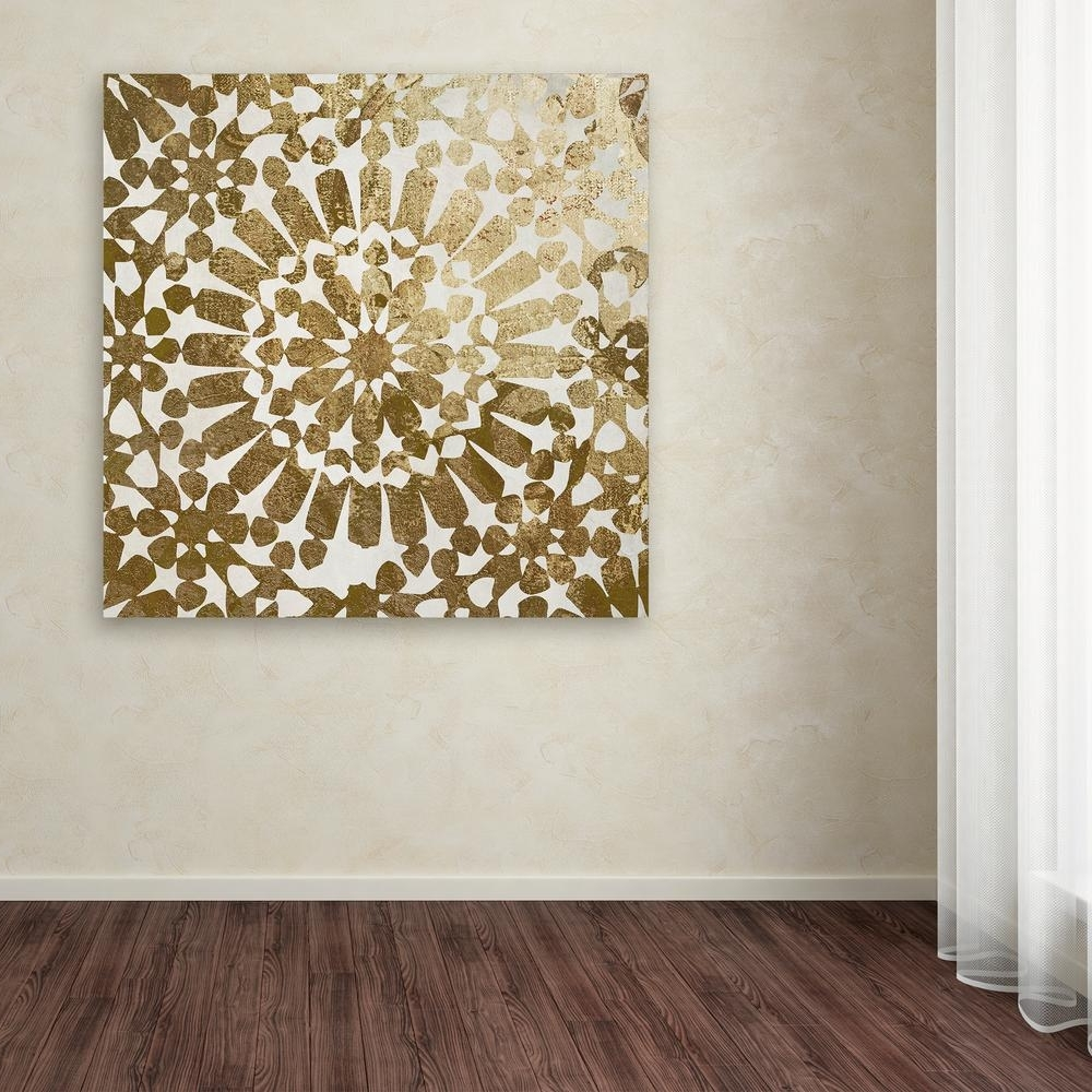Moroccan Wall Art Throughout Newest Trademark Fine Art 35 In. X 35 In (View 17 of 20)