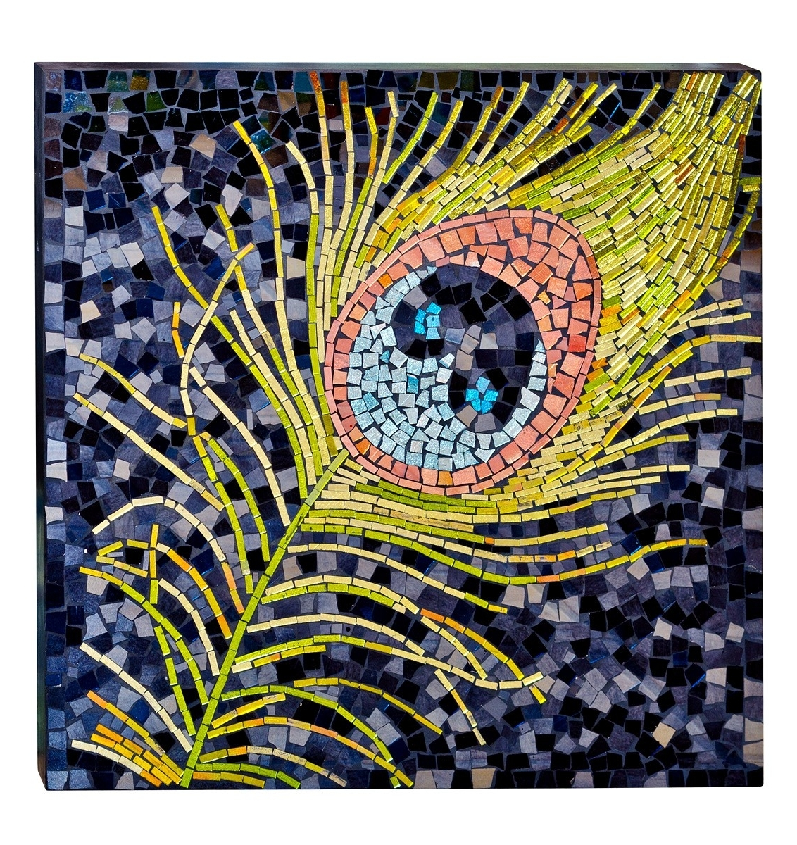 Mosaic Glass Peacock Wall Art – Be Fabulous! With Regard To Trendy Glass Wall Art (View 12 of 15)