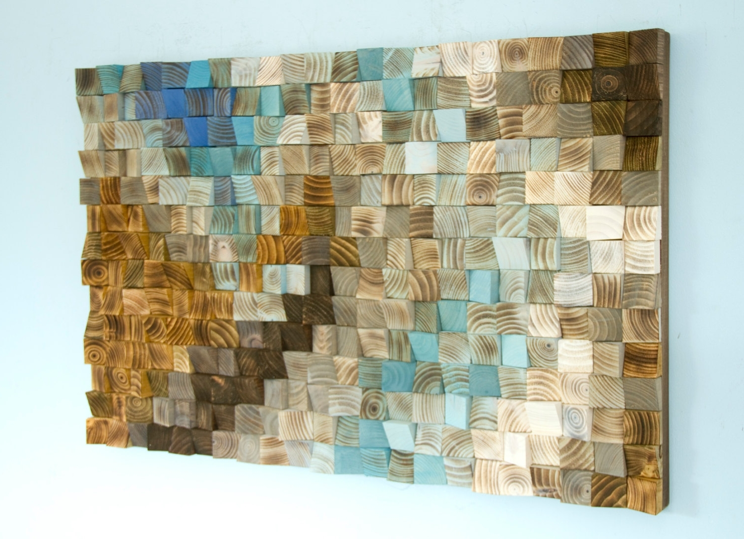 Mosaic Wall Art Throughout Latest Mosaic Wall Art Elegant Wood Office Decor Geometric 24 X 36 Within (View 4 of 15)