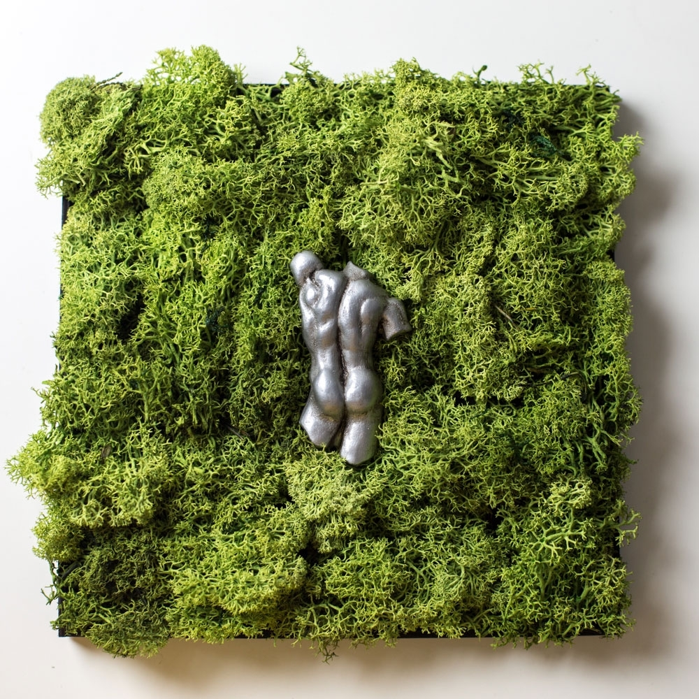 Moss Wall Art Within Well Known Moss Wall Art With Italian Sculpture, Wedding Gift, Nature Art (Gallery 6 of 20)