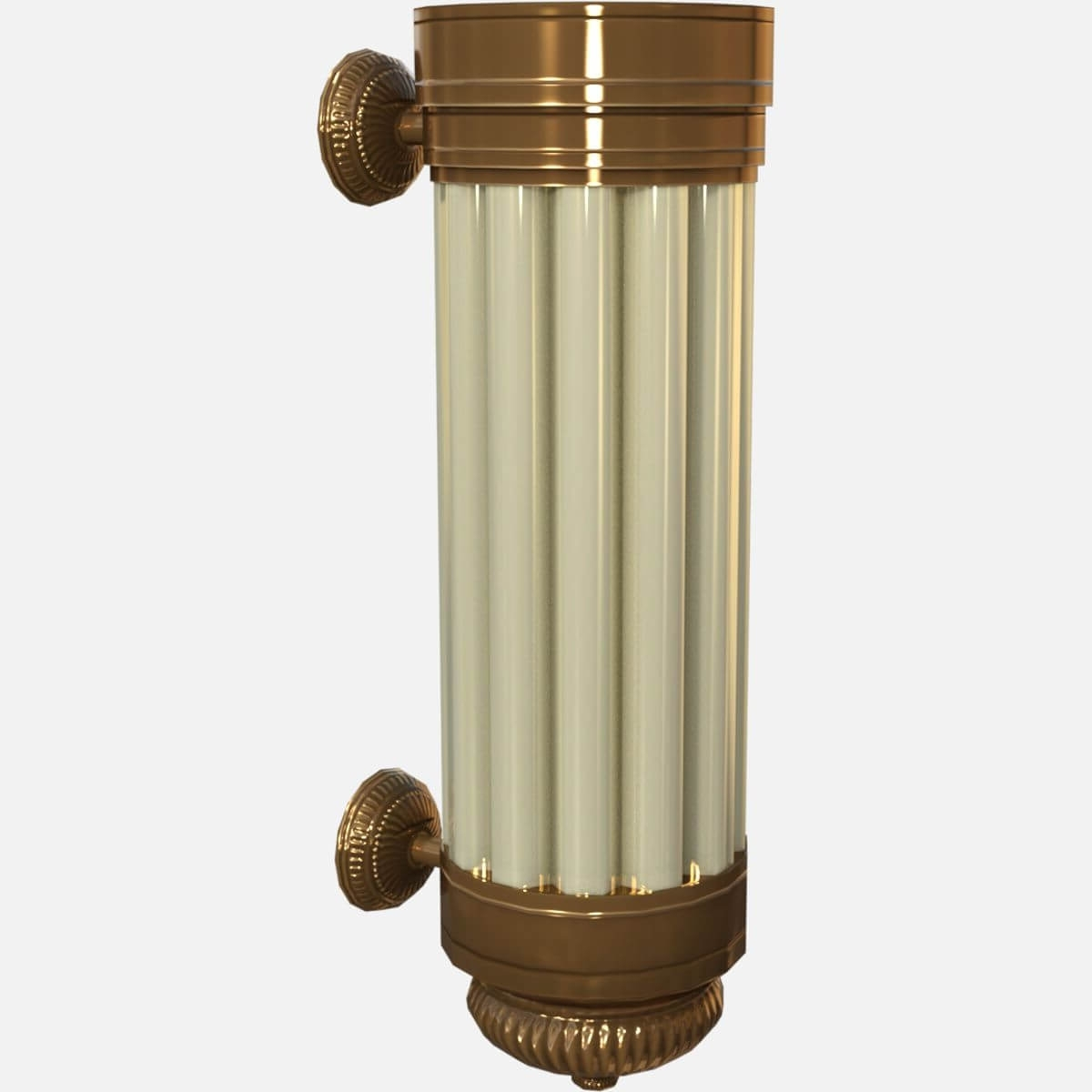 Most Current Art Deco Wall Sconces Inside Art Deco Wall Sconce Light 3d Model (View 9 of 20)
