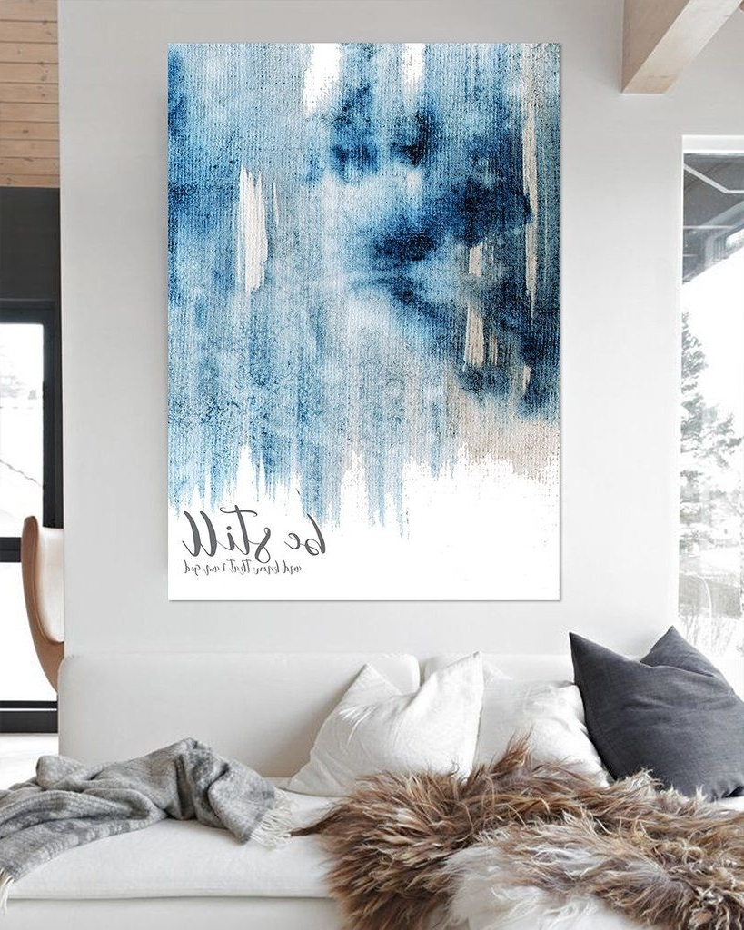 Most Current Be Still And Know Modern Farmhouse Art – Blue Contemporary Wall Art Intended For Contemporary Wall Art Decors (Gallery 20 of 20)