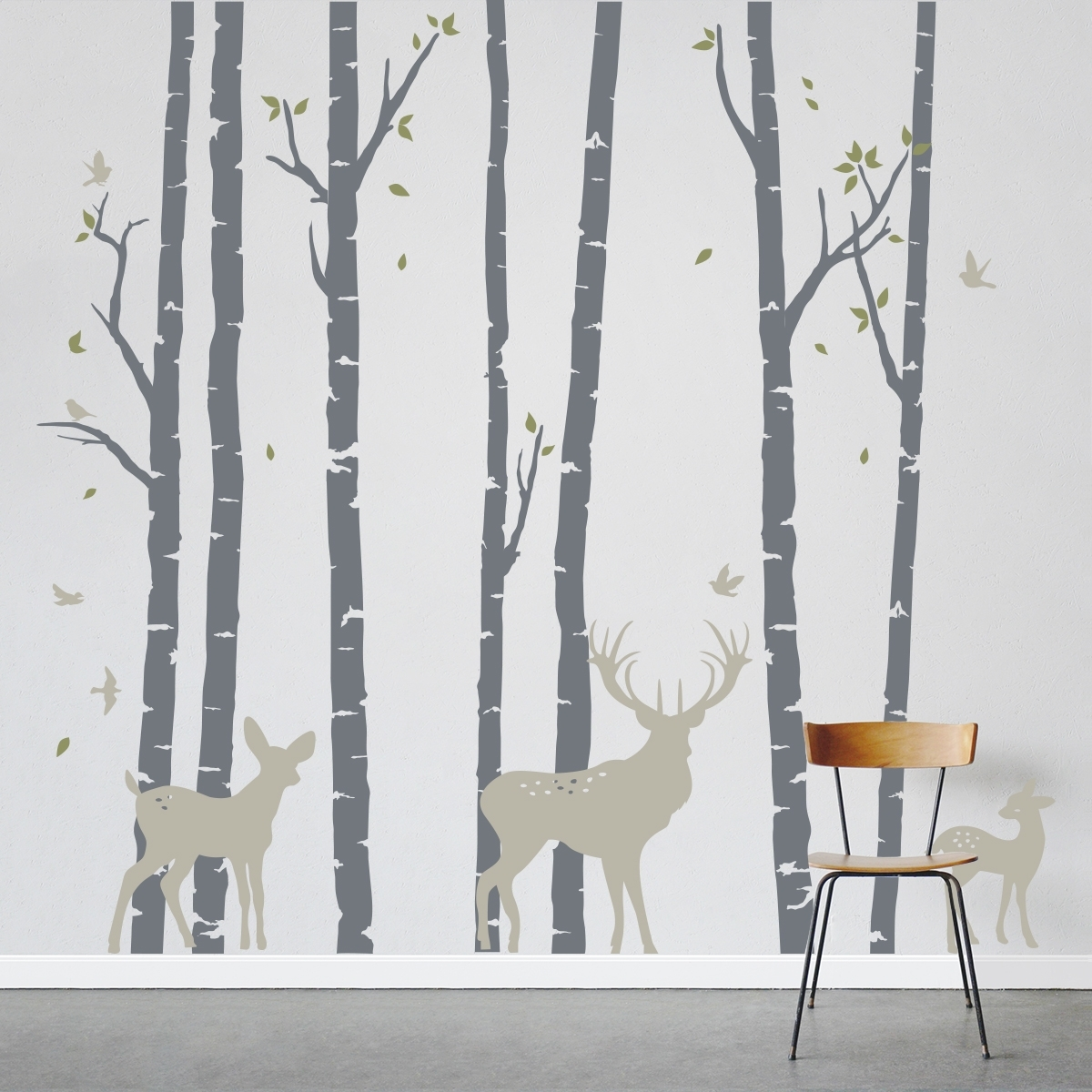 Most Current Birch Tree Wall Art For Birch Trees Forest With Fresh Birch Tree Wall Decal – Wall (View 8 of 20)