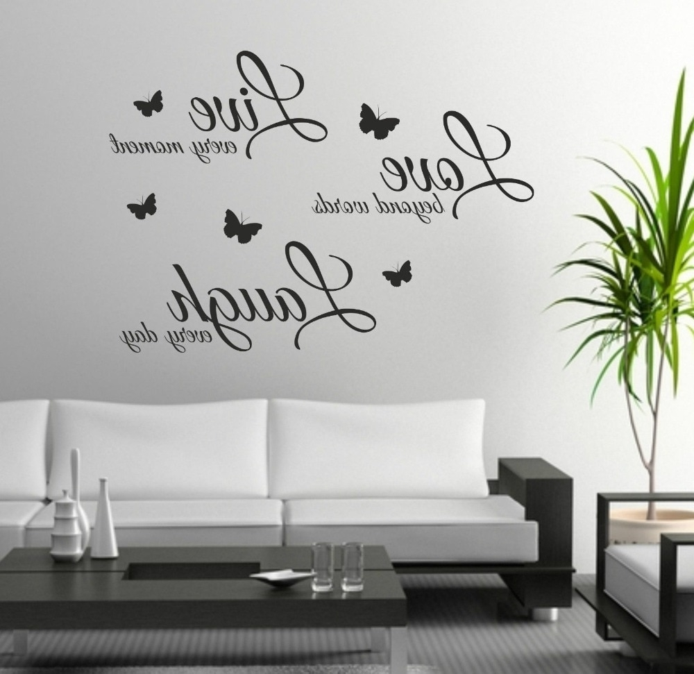 Most Current Foodymine Live Laugh Love Wall Art Sticker Quote Wall Decor Wall In Quote Wall Art (Gallery 19 of 20)