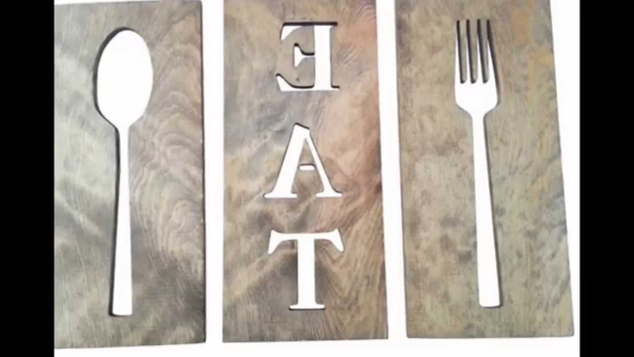 Most Current Fork And Spoon Wall Art Regarding Spoon And Fork Wall Decor # Diy Fork And Spoon Wall Decor – Youtube (View 14 of 20)
