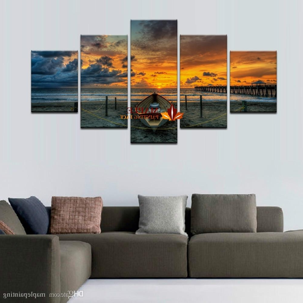 Most Current Hot Sell Unframed Large Hd Seaview With Shiptop Rated Canvas Print For Living Room Wall Art (View 8 of 15)