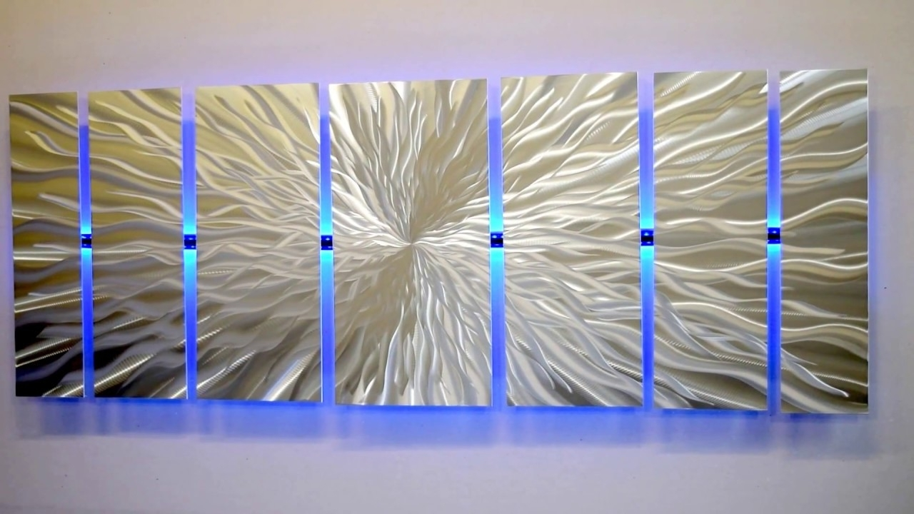 "Most Current Lighted Wall Artmetal Artist Brian Jones ""cosmic Energy"" Led Regarding Lighted Wall Art (View 3 of 20)"