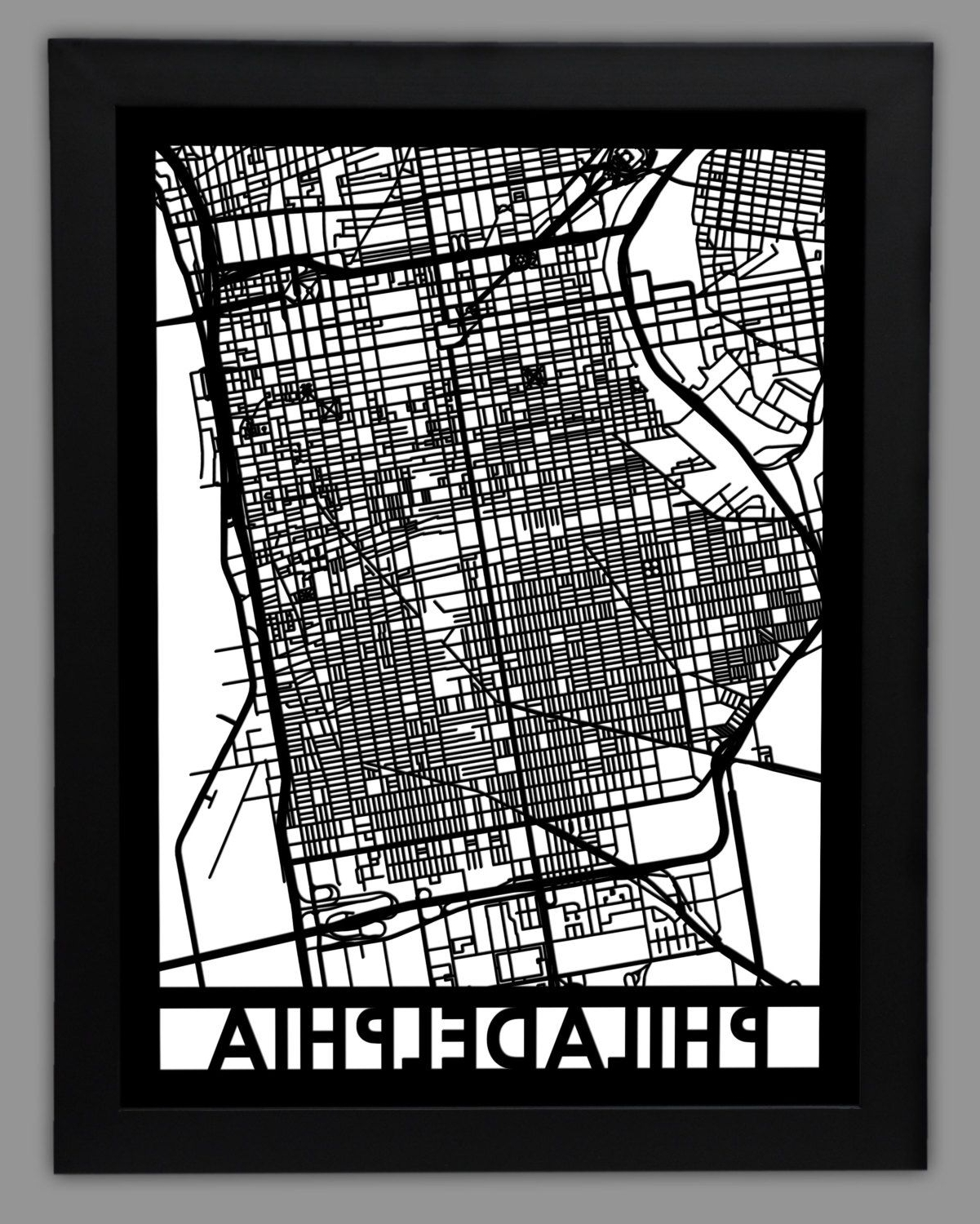 Most Current Philadelphia Laser Cut Map (View 10 of 20)