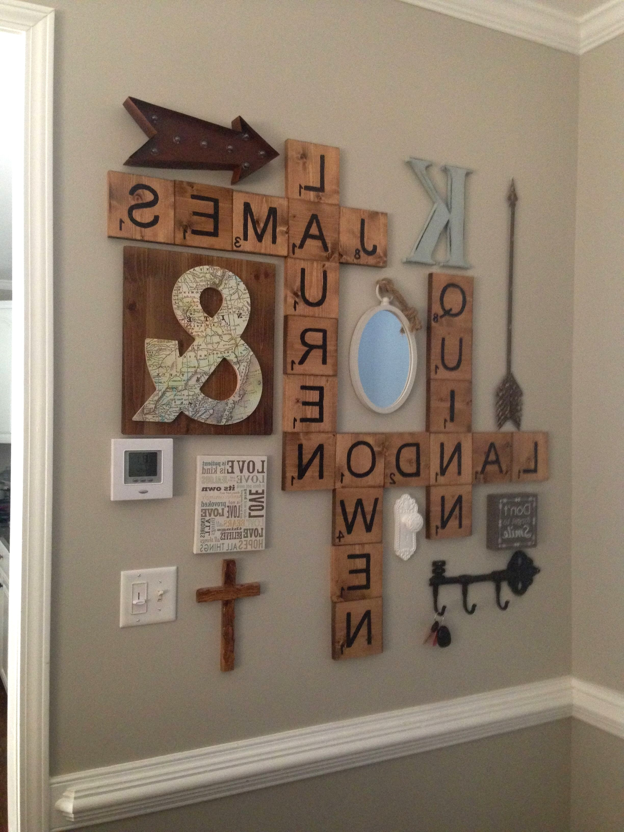 Most Current Scrabble Wall Art Intended For Scrabble Letters Wall Decor Diy Pinterest Scheme Of Family Scrabble (View 10 of 20)
