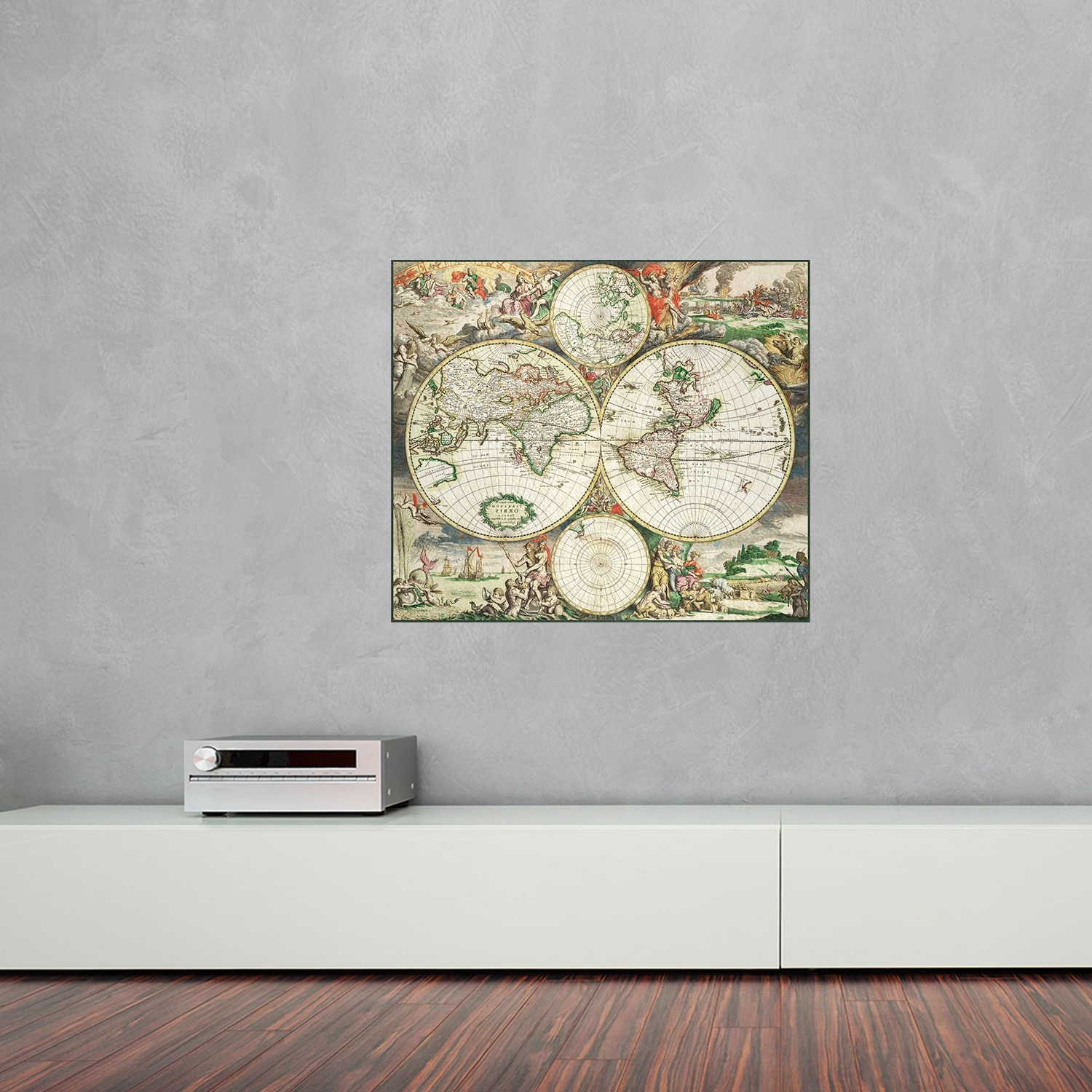 Most Current Wall Art World Map For 1689 World Map Vinyl Wall Art (View 8 of 20)