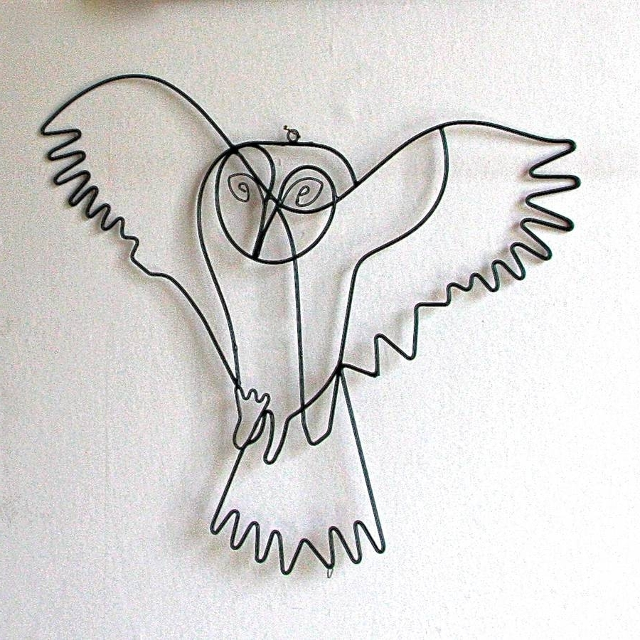 Most Current Wire Wall Art Regarding Flying Owl Wire Wall Artlondon Garden Trading (View 8 of 20)