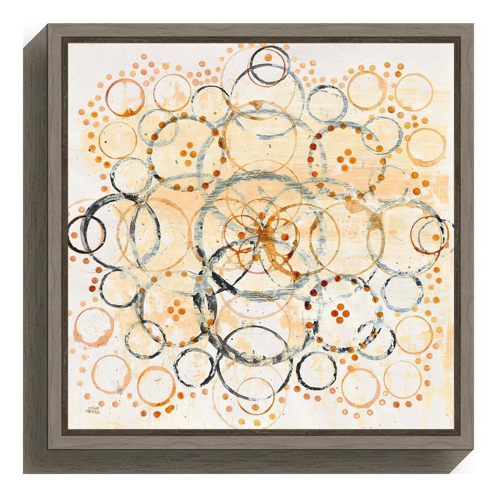 "Most Popular Amanti Art ""henna Mandala Ii Crop""melissa Averinos Framed Canvas Intended For Henna Wall Art (View 14 of 20)"