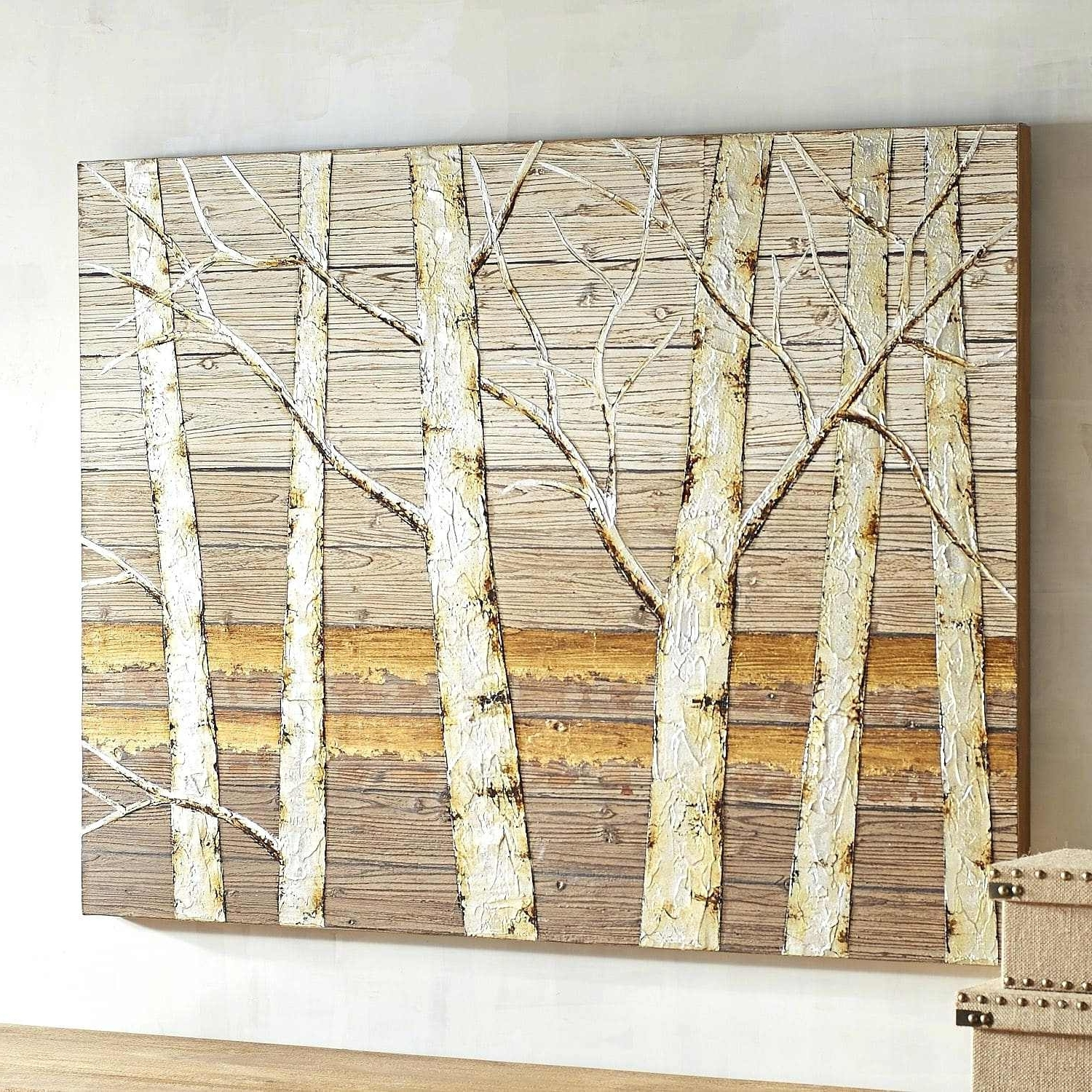Most Popular Birch Tree Wall Art Pertaining To Birch Wall Art Metallic Birch Trees Wall Art Birch Tree Wall Art (View 5 of 20)