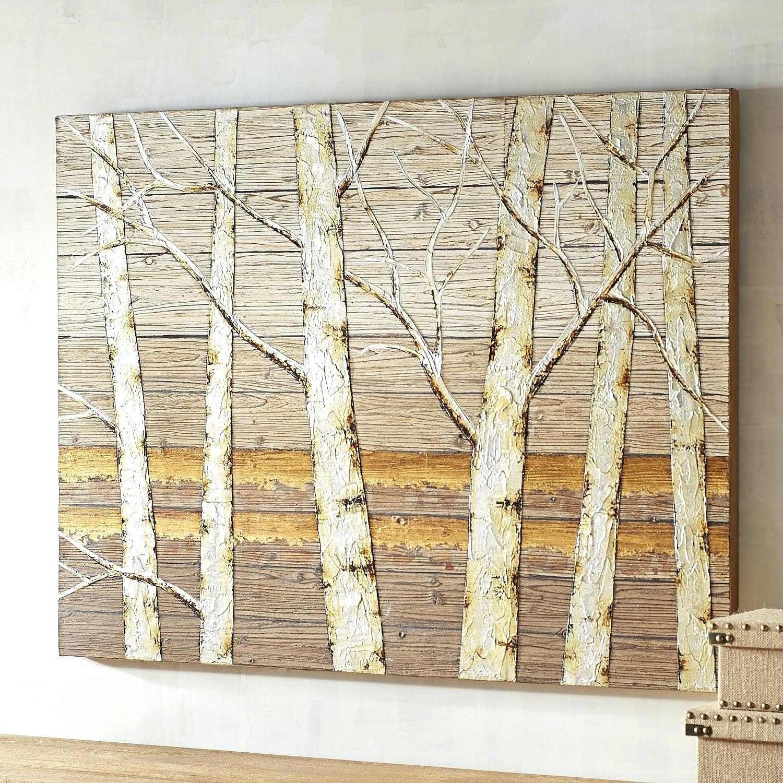 Most Popular Birch Tree Wall Art Pertaining To Birch Wall Art Metallic Birch Trees Wall Art Birch Tree Wall Art (View 16 of 20)
