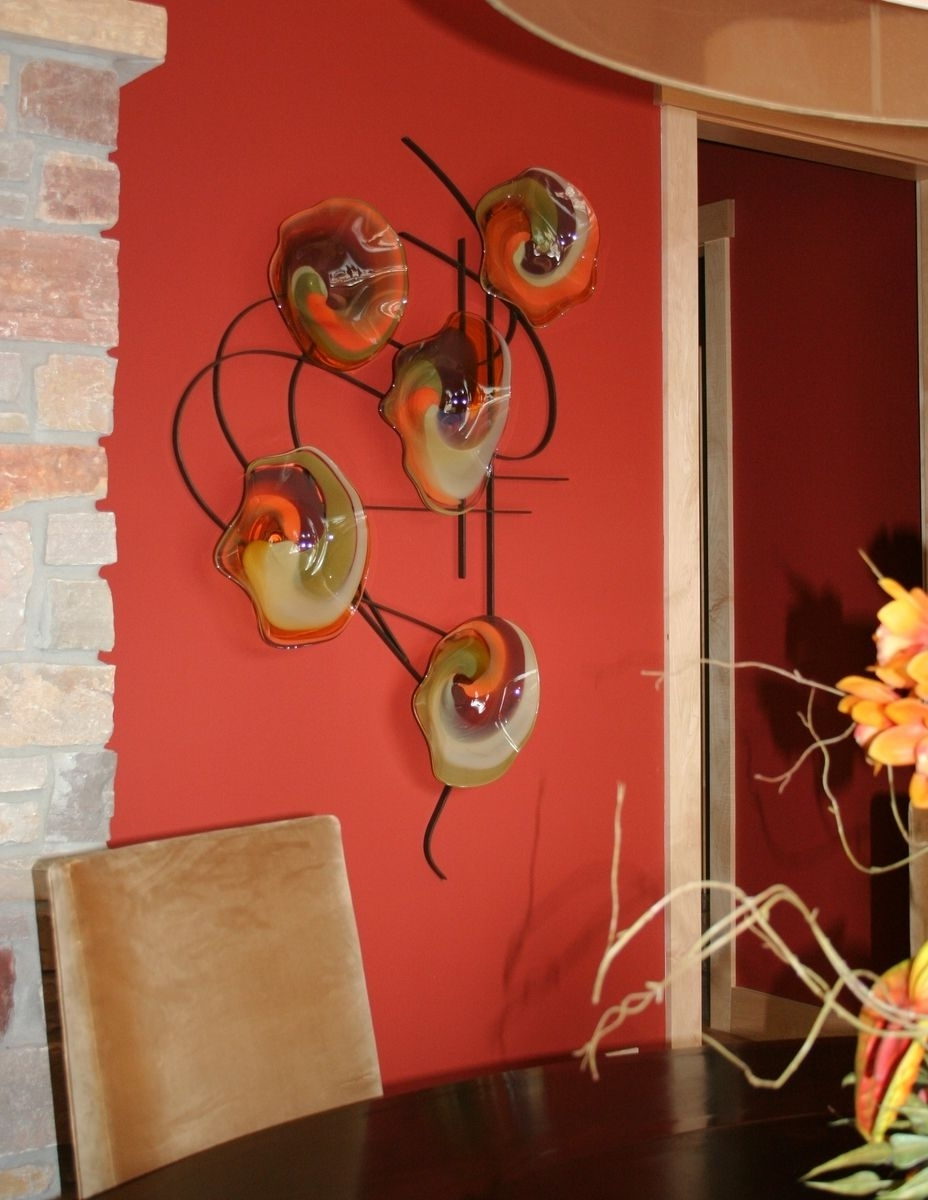 Most Popular Custom Made Blown Glass And Metal Wall Artbonnie M. Hinz In Blown Glass Wall Art (Gallery 7 of 20)