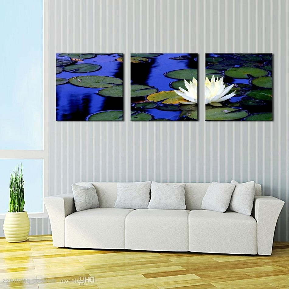 Most Popular Discount Lotus Pond In Chinese Style Wall Art Painting Print On Intended For Discount Wall Art (View 3 of 20)