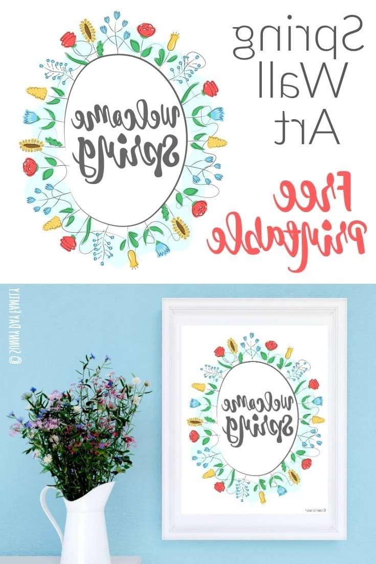 Most Popular Free Printable Wall Art Decors Within Welcome Spring: Free Printable Wall Art (View 11 of 20)