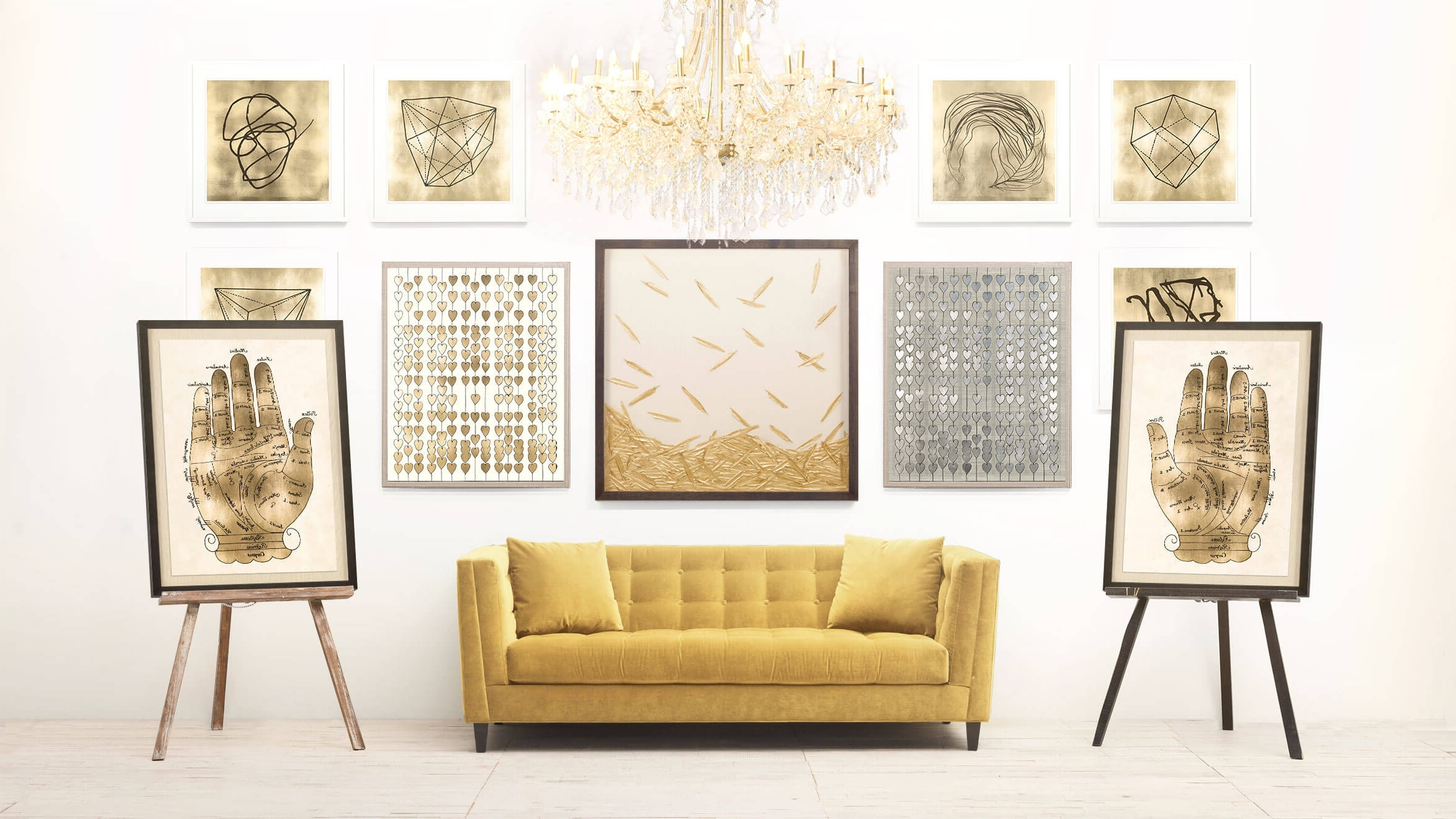 Most Popular Gold Wall Art Within Luxury White And Gold Wall Art – Kunuzmetals (View 11 of 15)